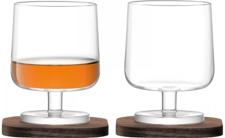 LSA City Bar cognacglas - set van 2