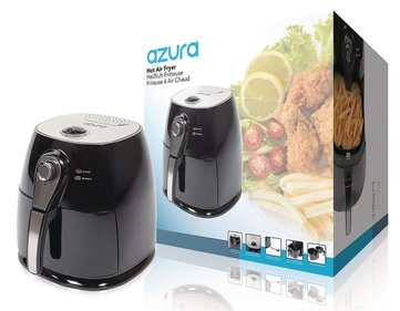 Azura Hot Air Fryer 1400 W 3 l Zwart/Zilver