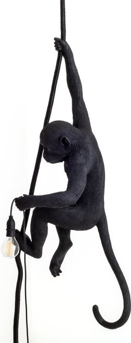 Seletti Monkey Lamp Ceiling Black