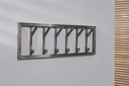 Zilt Industrial Six wall coat rack
