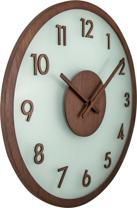NeXtime Frosted Wood wandklok