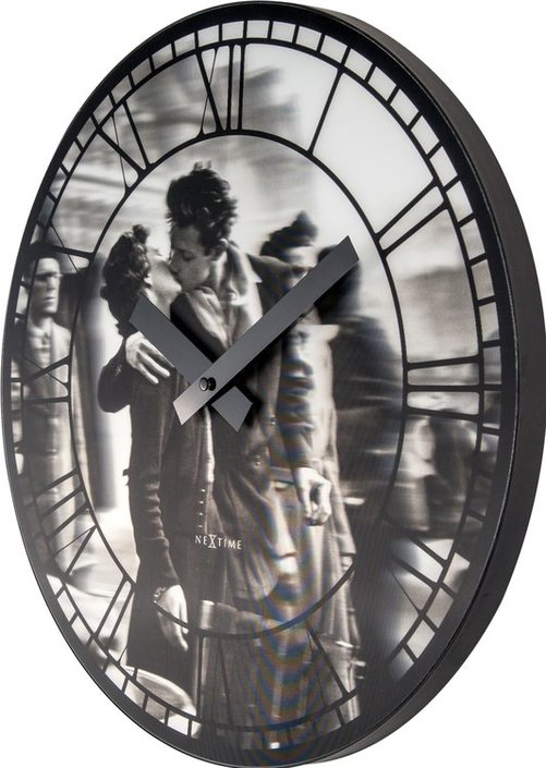 NeXtime Kiss me in Paris wandklok