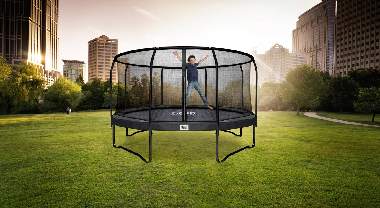 salta premium black edition trampoline rond kopen frank. Black Bedroom Furniture Sets. Home Design Ideas