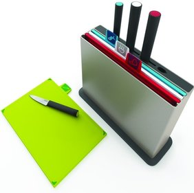 Joseph Joseph cutting board set Index Plus with knives
