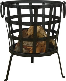 Esschert Design recycled metal fire basket