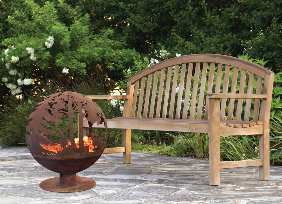 Esschert Design Fallen Fruits laser cut fire pit Woods