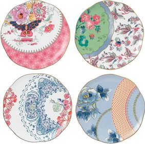 Wedgwood Butterfly Bloom set van vier borden