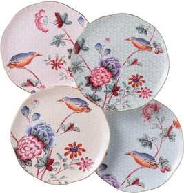 Wedgwood Cuckoo bordje - set van 4