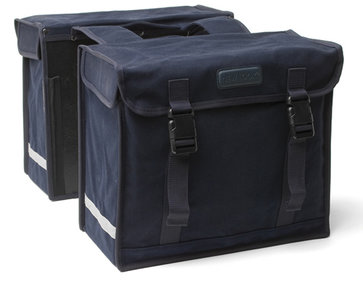 New Looxs Canvas De Luxe double bicycle bag black