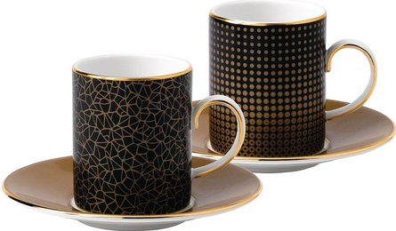Wedgwood Arris espressokopp med fat - set av 2