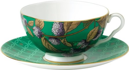 Wedgwood Tea Garden Green Tea & Mint tea cup and saucer