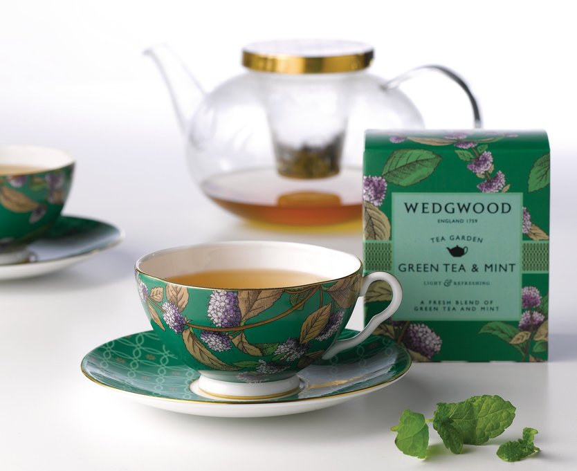 Wedgwood Tea Garden Green Tea with mint thee 60 gram