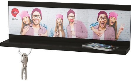 Balvi Shelfie key rack with photo frame