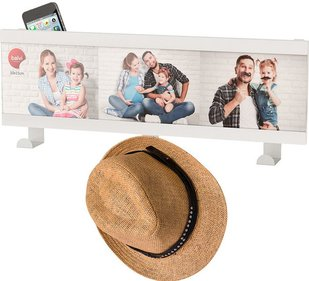 Balvi Smile wall coat rack with photo frame