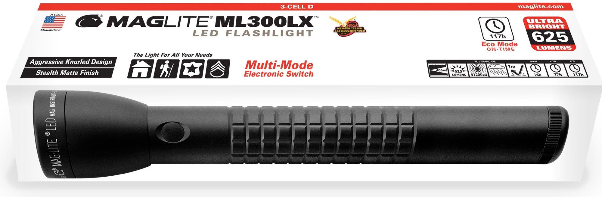 Maglite ML300LX 3D lommelygte