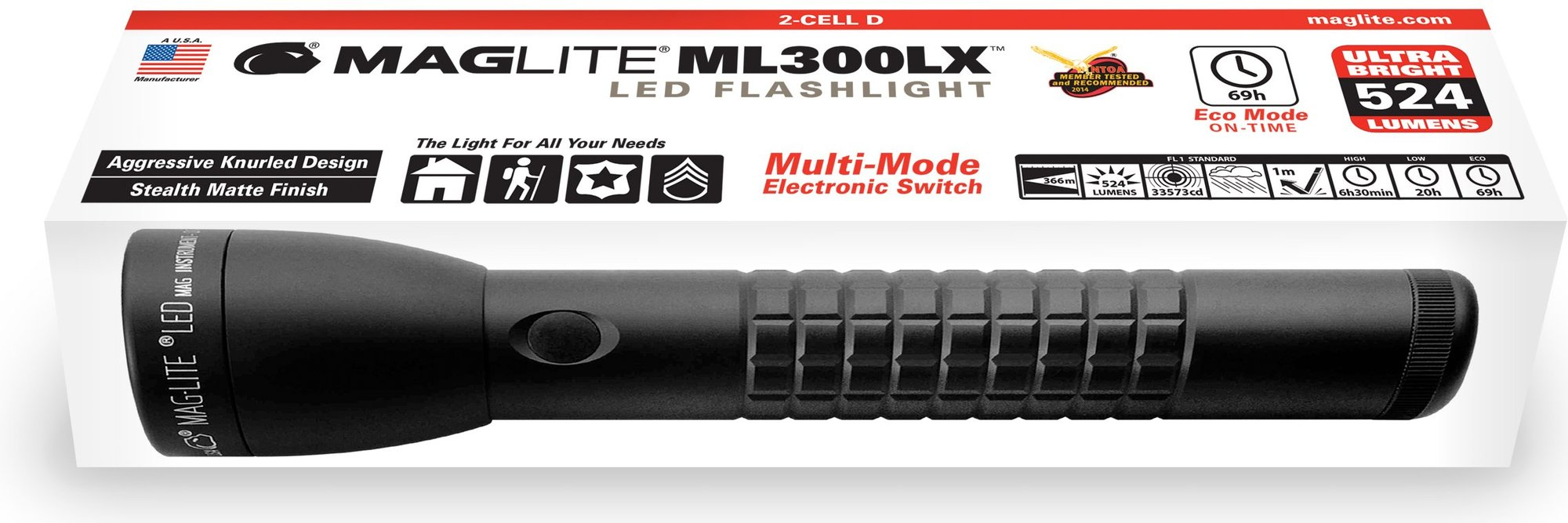 Maglite ML300LX 2D zaklamp
