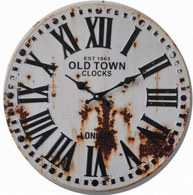 Balance Time Old Town wall clock white