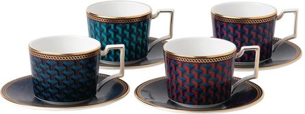 Wedgwood Byzance tea cup and saucer - set of 4