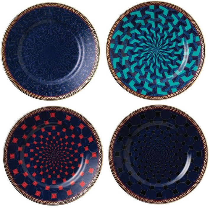 Wedgwood Byzance set of 4 cake plates