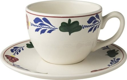 Boerenbont cup and saucer XL