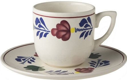 Boerenbont cup and saucer of small coffee