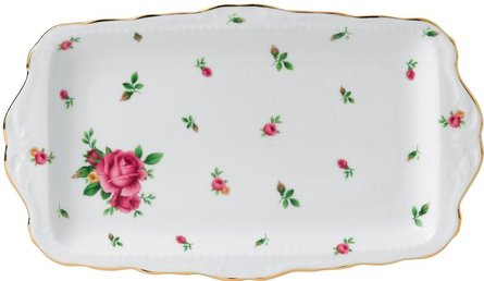 Royal Albert New Country Roses cake dish