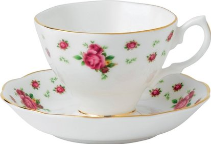 Royal Albert New Country Roses te kopp och tallrik