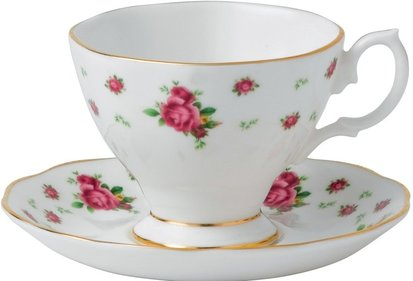 Royal Albert New Country Roses espresso coffee med fat