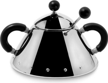 Alessi sugar bowl with spoon 9097