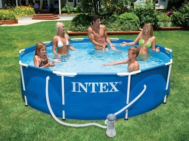 Intex Metall Framepool 366x76 cm über dem Boden Pool