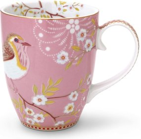 Pip Studio Floral mug bird 350ml