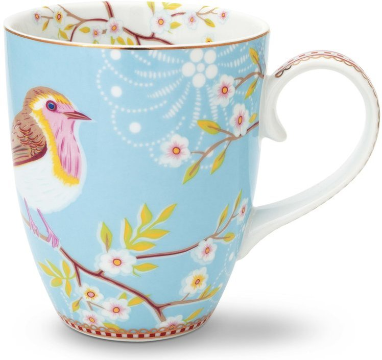 Pip Studio Floral mok vogel 350ml
