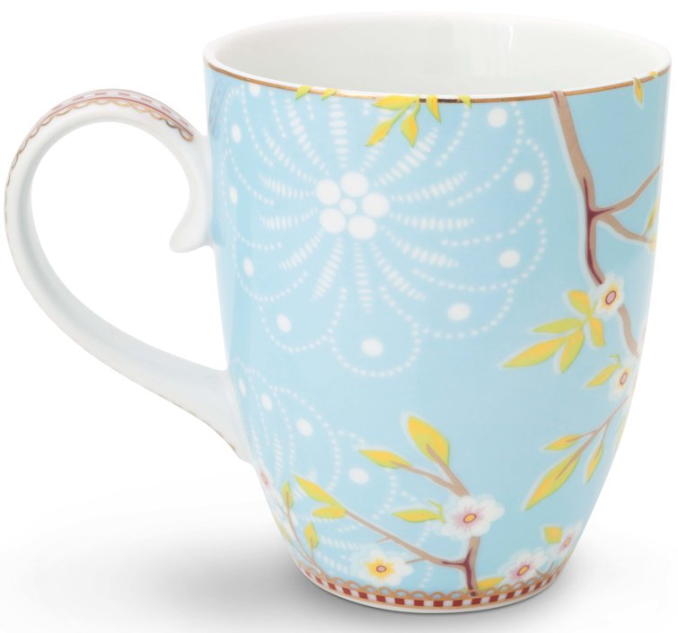 Pip Studio Floral mugg fågel 350 ml