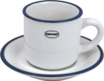 Cabanaz Retro espresso cup and saucer 90ml