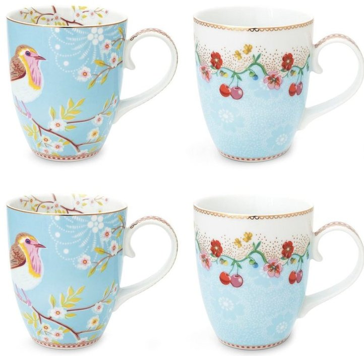 Pip Studio Floral Tasse 350ml - 4er-Set