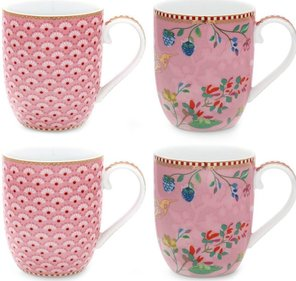 Pip Studio Floral Tasse 145ml - 4er-Set