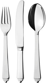 Georg Jensen Pyramid 3-piece children's cutlery