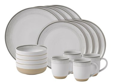 Royal Doulton ED Brushed 16-teiliges Geschirrset weiß
