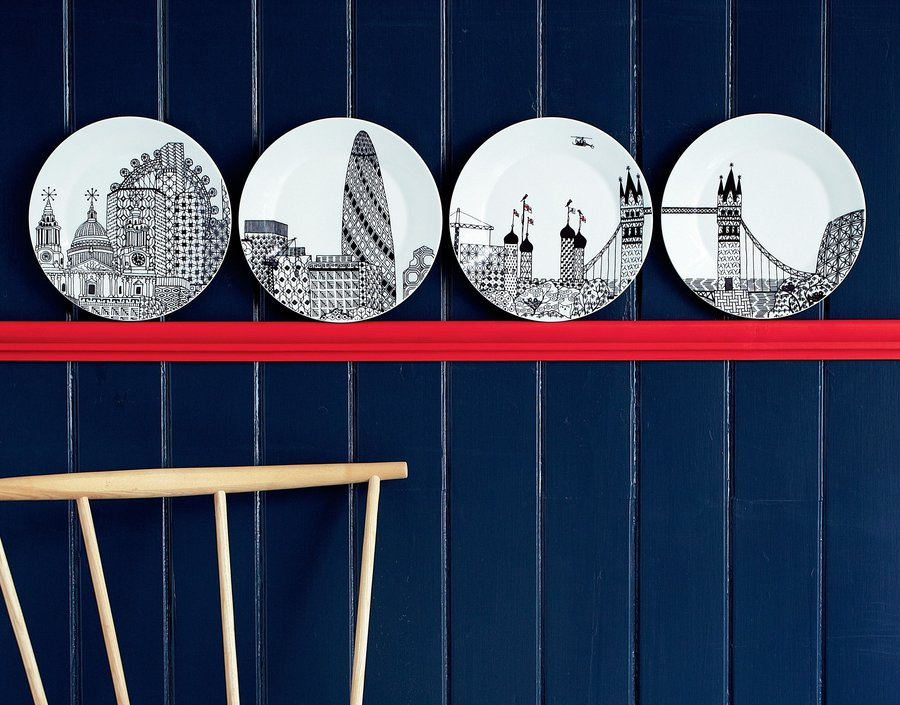 Royal Doulton London Calling plate ø 22cm - set of 4