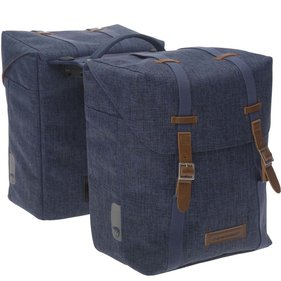 New Looxs Mondi Racktime double bicycle bag blue