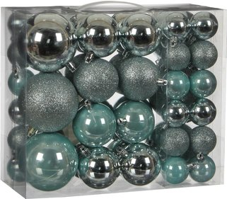 House of seasons Ornament kerstballen 46 stuks