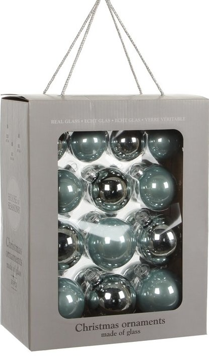 House of Seasons glass Ornament baubles 26 pieces