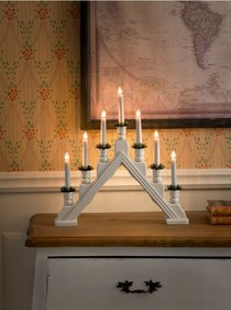 Konstsmide candlestick with decorative bobbins