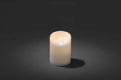 Konstsmide LED wax candle wide