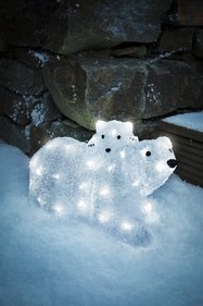 Konstsmide LED Acrylic Polar Bear family
