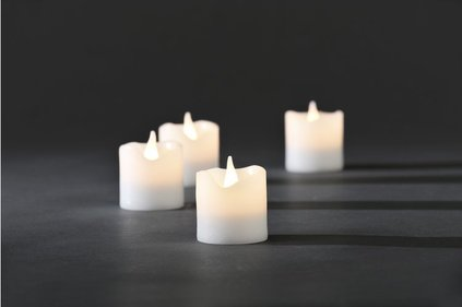 Konstsmide LED wax candles partly melted