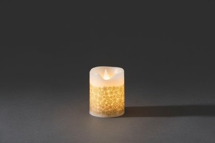 Konstsmide LED wax candle with decoration