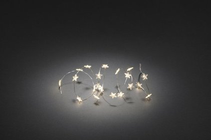 Konstsmide LED Decoration string light 20 transparent star twinkle
