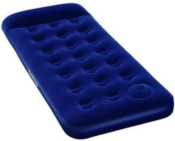 Bestway Flocked Easy Inflate Single Camping air mattress