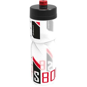 Polisport bidon S800 claer/black/red